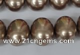 CSB166 15.5 inches 15*18mm – 16*19mm oval shell pearl beads