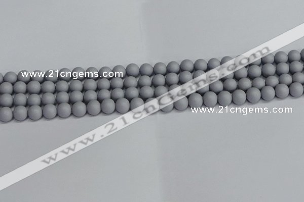 CSB1691 15.5 inches 6mm round matte shell pearl beads wholesale