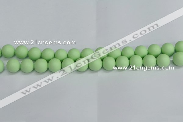 CSB1744 15.5 inches 12mm round matte shell pearl beads wholesale