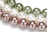 CSB18 16 inches 10mm round shell pearl beads Wholesale
