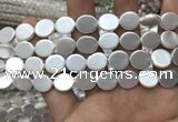 CSB2133 15.5 inches 10*12mm oval shell pearl beads wholesale