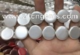 CSB2143 15.5 inches 25mm coin shell pearl beads wholesale