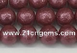 CSB2261 15.5 inches 6mm round wrinkled shell pearl beads wholesale