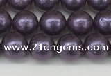 CSB2270 15.5 inches 4mm round wrinkled shell pearl beads wholesale