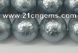 CSB2284 15.5 inches 12mm round wrinkled shell pearl beads wholesale