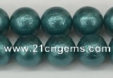 CSB2332 15.5 inches 8mm round wrinkled shell pearl beads wholesale