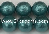CSB2334 15.5 inches 12mm round wrinkled shell pearl beads wholesale