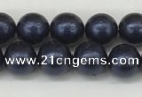 CSB2340 15.5 inches 4mm round wrinkled shell pearl beads wholesale