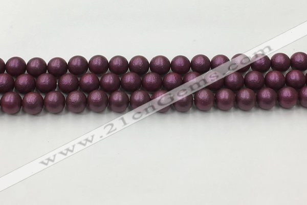 CSB2461 15.5 inches 6mm round matte wrinkled shell pearl beads