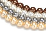 CSB25 16 inches 14mm round shell pearl beads Wholesale
