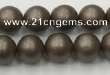 CSB2511 15.5 inches 6mm round matte wrinkled shell pearl beads