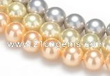 CSB34 16 inches 12mm round shell pearl beads Wholesale