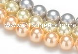 CSB35 16 inches 14mm round shell pearl beads Wholesale