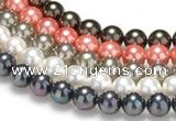 CSB38 16 inches 10mm round shell pearl beads Wholesale