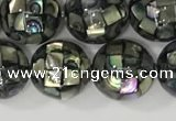 CSB4015 15.5 inches 10mm ball abalone shell beads wholesale