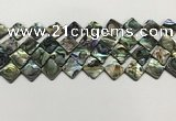 CSB4119 15.5 inches 10*10mm diamond abalone shell beads wholesale