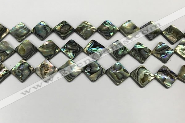 CSB4120 15.5 inches 12*12mm diamond abalone shell beads wholesale