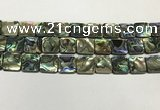 CSB4147 15.5 inches 16*16mm square abalone shell beads wholesale