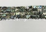 CSB4152 15.5 inches 8*12mm rectangle abalone shell beads wholesale