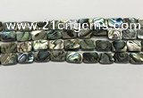 CSB4153 15.5 inches 10*14mm rectangle abalone shell beads wholesale