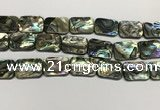 CSB4157 15.5 inches 18*25mm rectangle abalone shell beads wholesale