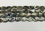 CSB4160 15.5 inches 10*14mm flat drum abalone shell beads wholesale