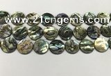 CSB4173 15.5 inches 18*18mm coin abalone shell beads wholesale