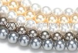 CSB51 16 inches 16mm round shell pearl beads Wholesale