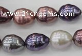 CSB553 15.5 inches 12*15mm whorl teardrop mixed color shell pearl beads