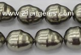 CSB572 15.5 inches 16*19mm whorl teardrop shell pearl beads