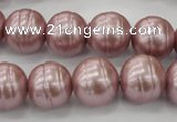 CSB621 15.5 inches 14mm whorl round shell pearl beads