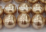 CSB645 15.5 inches 18mm whorl round shell pearl beads