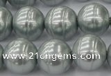 CSB646 15.5 inches 18mm whorl round shell pearl beads
