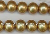 CSB804 15.5 inches 13*15mm oval shell pearl beads wholesale