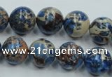 CSE215 15.5 inches 18mm round dyed natural sea sediment jasper beads