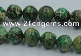 CSE221 15.5 inches 14mm round dyed natural sea sediment jasper beads