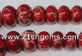 CSE304 15.5 inches 7*10mm – 15*20mm rondelle dyed sea sediment jasper beads