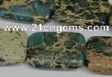 CSE5028 15.5 inches 20*30mm rectangle natural sea sediment jasper beads