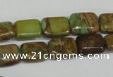 CSE5039 15.5 inches 6*8mm rectangle natural sea sediment jasper beads