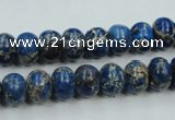 CSE52 15.5 inches 8*10mm rondelle dyed natural sea sediment jasper beads