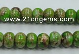 CSE55 15.5 inches 8*10mm rondelle dyed natural sea sediment jasper beads