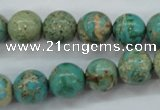 CSE76 15.5 inches 12mm round dyed natural sea sediment jasper beads