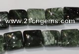 CSH102 15.5 inches 12*12mm square natural seraphinite gemstone beads