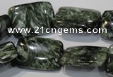 CSH115 15.5 inches 18*25mm rectangle natural seraphinite gemstone beads