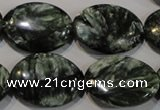 CSH135 15.5 inches 18*25mm oval natural seraphinite gemstone beads