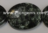 CSH138 15.5 inches 30*40mm oval natural seraphinite gemstone beads