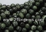CSJ02 15.5 inches 6mm round green silver line jasper beads wholesale