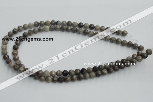 CSL01 15.5 inches 8mm round silver leaf jasper beads wholesale