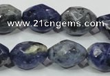 CSO102 15.5 inches 15*20mm faceted nugget sodalite gemstone beads