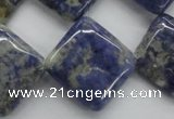 CSO231 15.5 inches 20*20mm diamond sodalite gemstone beads